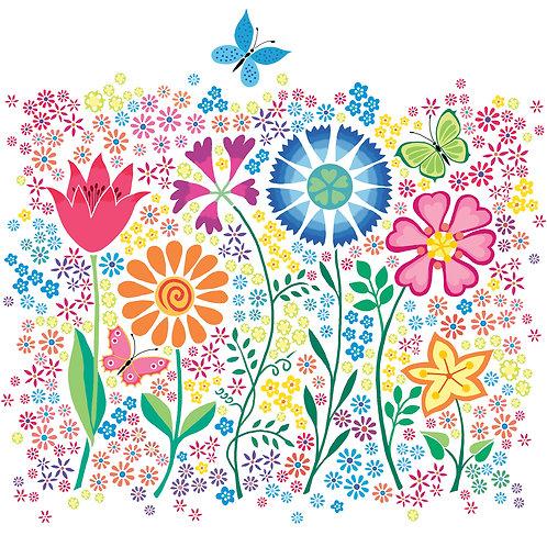 flower print for children's rooms