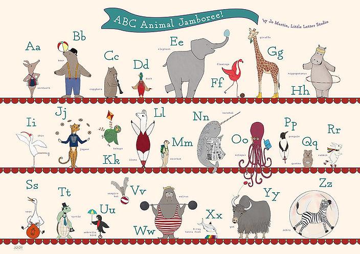 ABC Animal Jamboree by Little Letter Studio