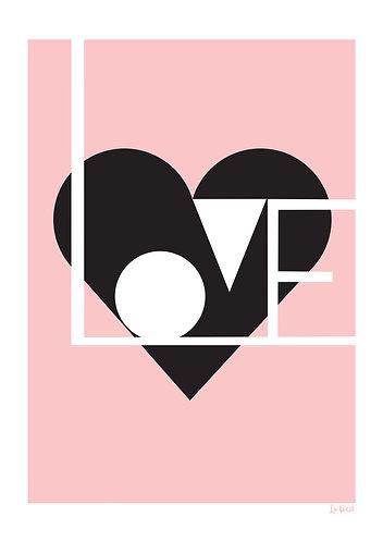 pink love print