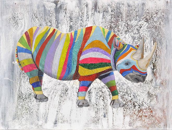 Striped Rhino by Raph Thomas