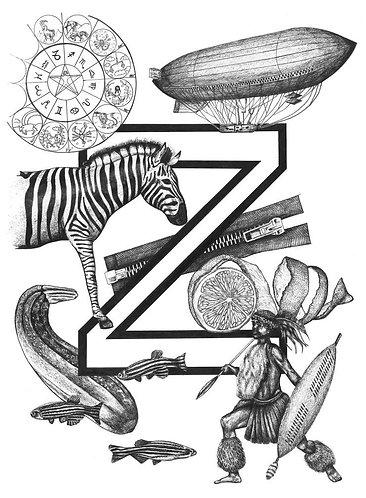Black and white alphabet print