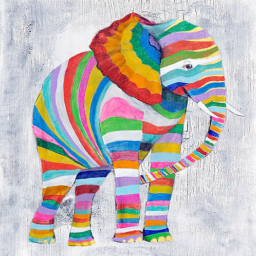Elephant print for childrens rooms
