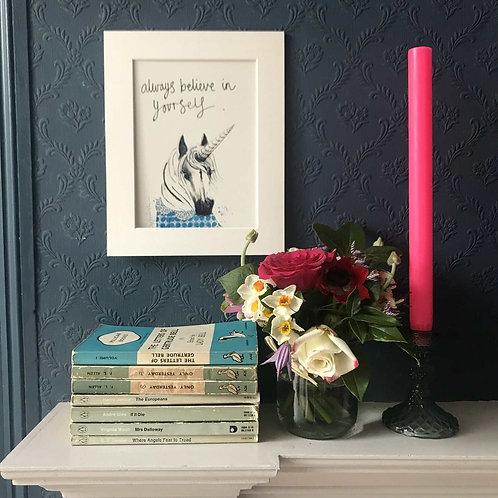 unicorn art print for chilren