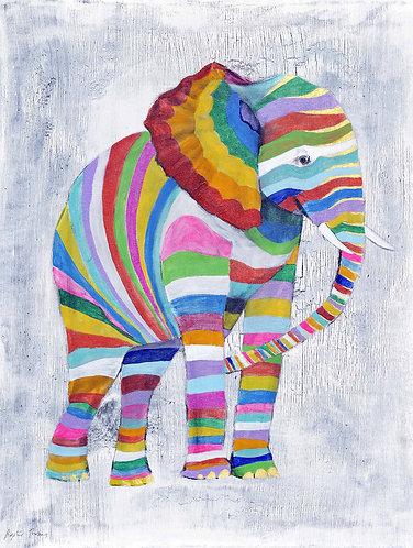 Striped Elephant by Raph Thomas