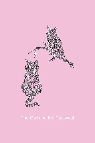 Owl & the Pussycat (pink) by Lynn Selwyn-Reeves