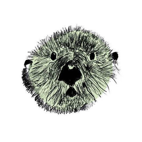 Otter print for kids