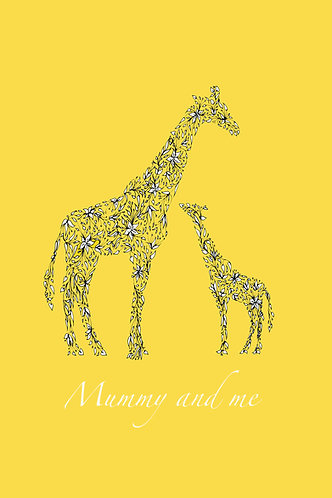 Mummy & Me Giraffes (yellow) by Lynn Selwyn-Reeves