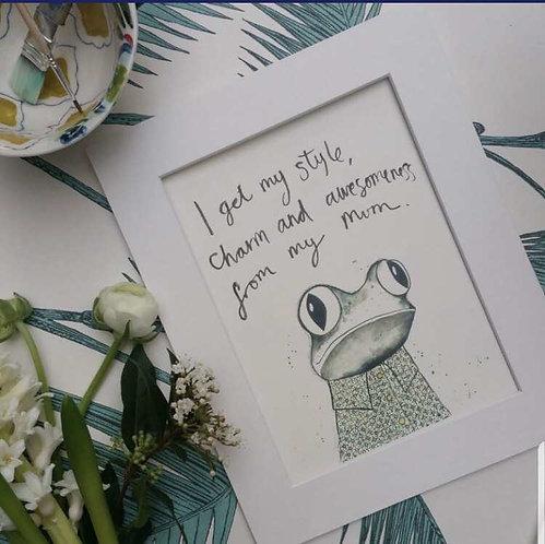 Frog art print for kids