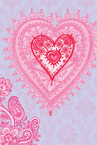 pink heart print for children's rooms