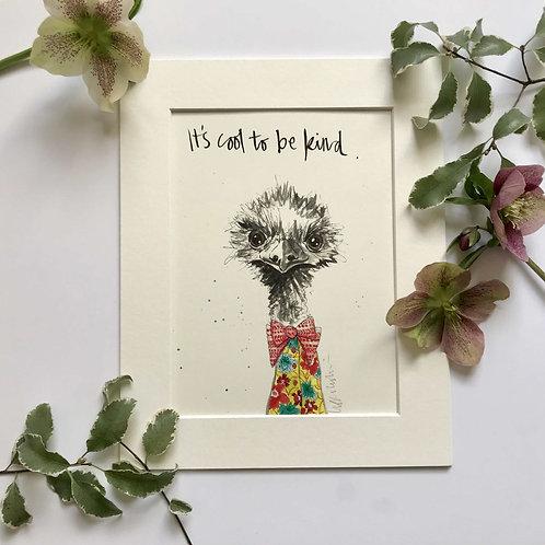 Emu art print for children