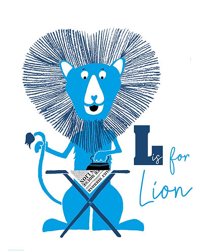 Lion ironing alphabet print