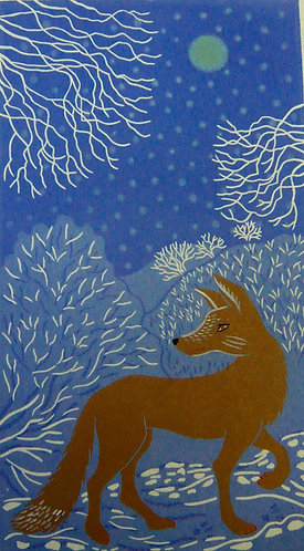 Fox print for children's rooms