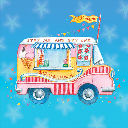 Ice cream van picture for children's rooms