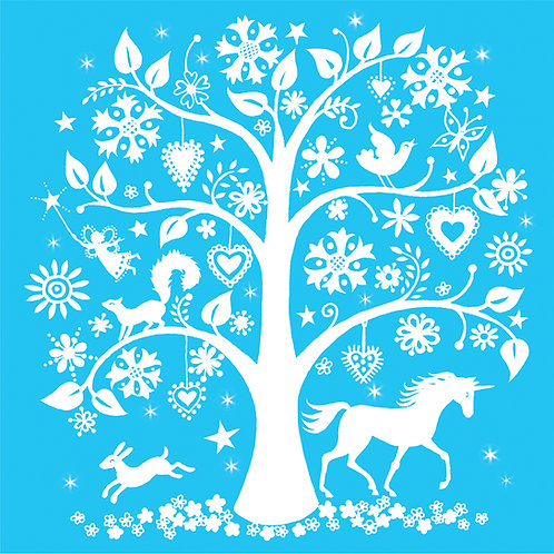 unicorn and tree print for children
