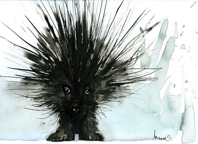 Porcupine artprint for children