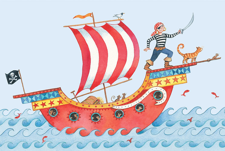 Pirate boat picture for children