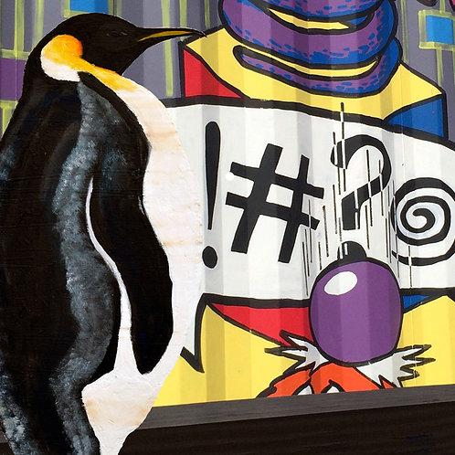 Graffiti Penguin art print