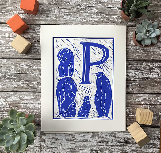 Initial Letter Print P (personalised) by The Mama Bjorn