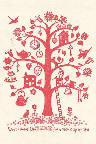 pretty tree print for nursery