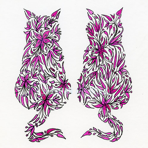 2 Cats by Lynn Selwyn-Reeves