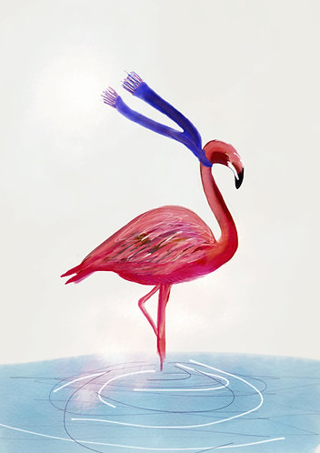 Flamingo art for kids