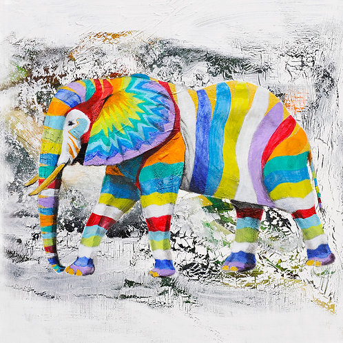 Elephant art picture for children's rooms