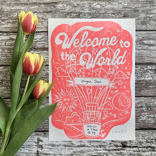 Welcome to the World (personalised) by The Mama Bjorn