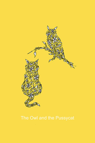 Owl and the Pussycat print for children's rooms