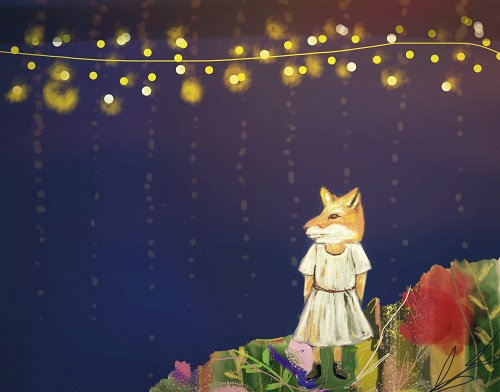 Fox and fairy lights