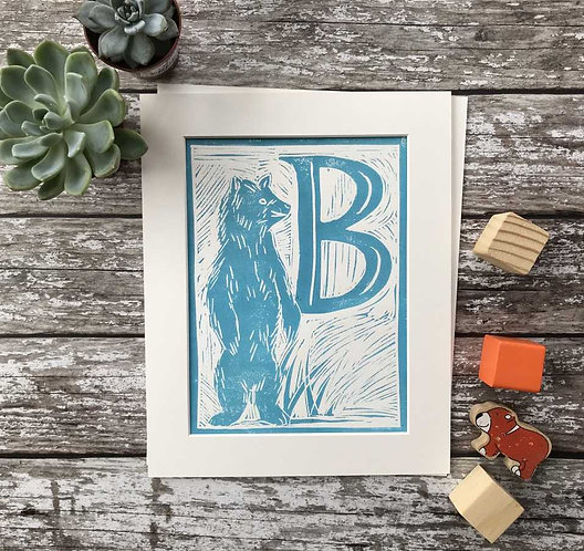 Initial Letter Print B (personalised) by The Mama Bjorn