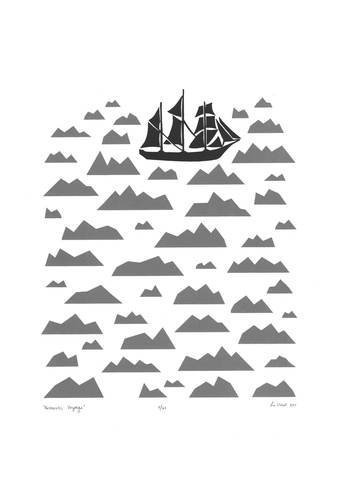 Boat prints for kids rooms