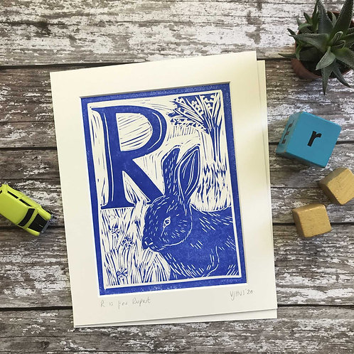 Initial Letter Print R (personalised) by The Mama Bjorn