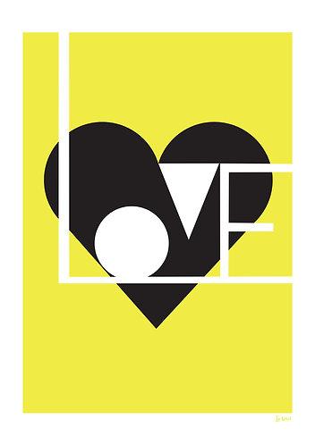 Yellow love print