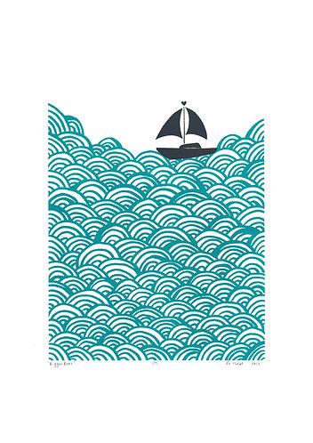 Boat screen print