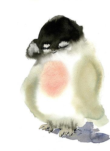 Penguin print for children's rooms