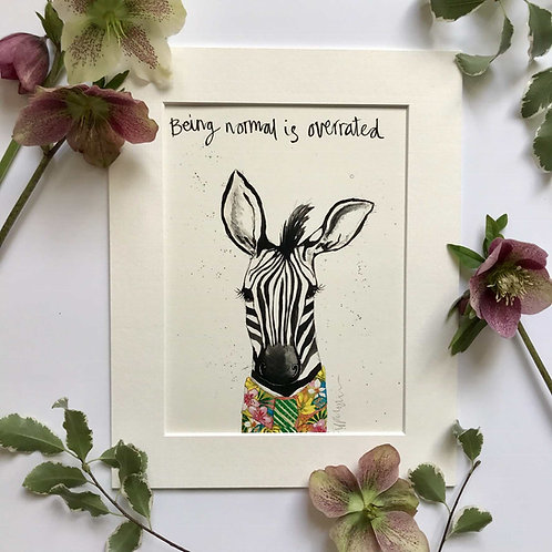 Zebra art print for kids