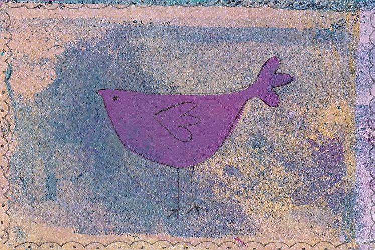 Nursery art with birds