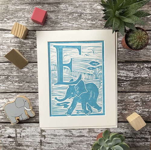 Initial Letter Print E (personalised) by The Mama Bjorn