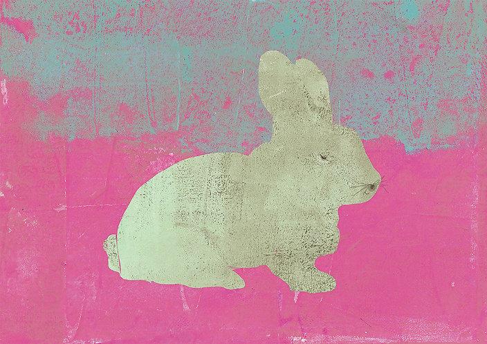 bunny rabbit print for kids rooms
