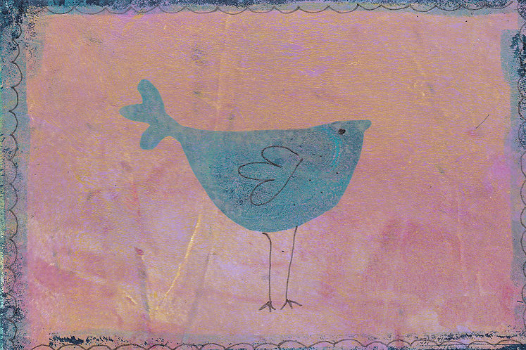 bird print for children's rooms