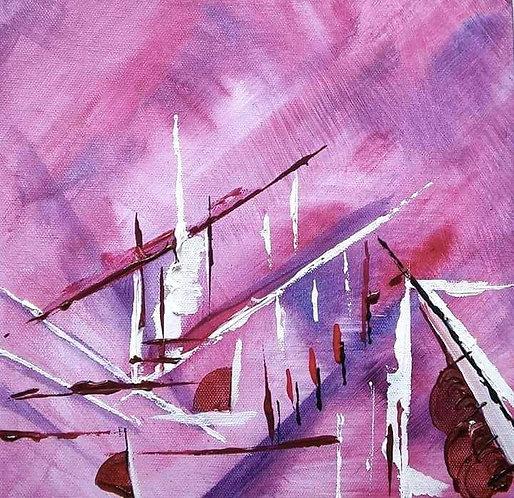 Popping Pink III by Laura H Elliott