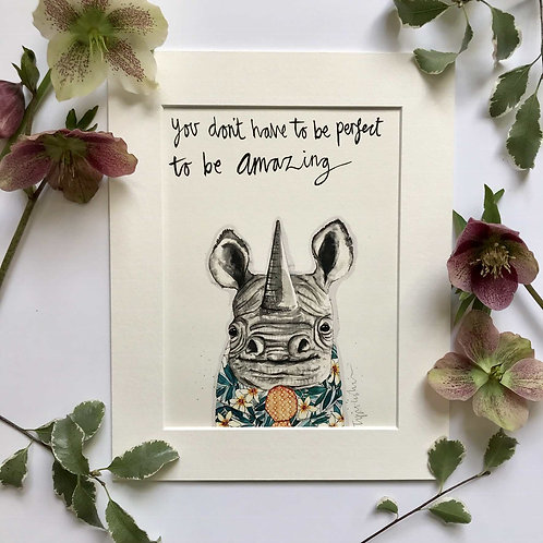Rhino print for children's rooms