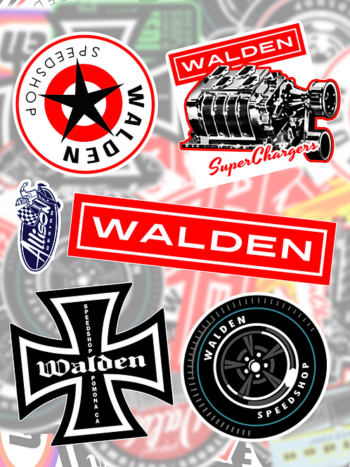WALDEN SPEED SHOP - STICKER PACK