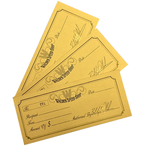 WSS Gift Certificates