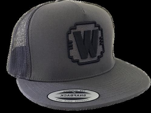"""WALDEN SPEED - """"W"""" LOGO HAT DARK GRAY TRUCKER"""