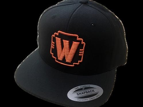 """WALDEN SPEED - """"W"""" LOGO HAT ORANGE & BLACK"""