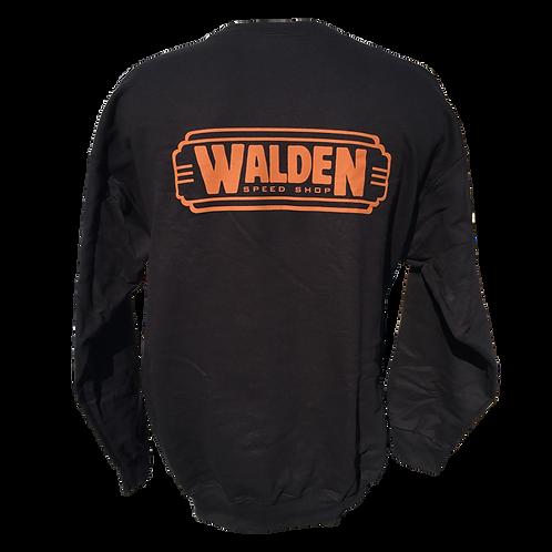 WALDEN SPEED SHOP - CLASSIC LOGO ORANGE SWEATSHIRT