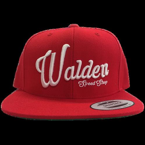 WALDEN SPEED SHOP SCRIPT HAT - RED