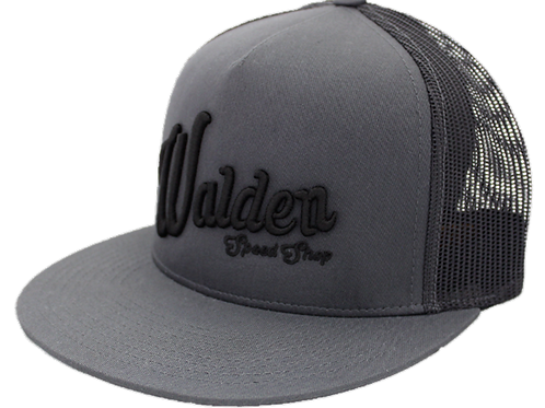 WALDEN SPEED SHOP SCRIPT HAT - DARK GRAY TRUCKER
