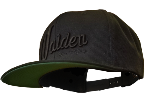 WALDEN SPEED SHOP SCRIPT HAT - BLACK ON BLACK